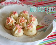peppermint meltaways with peppermint cream cheese icing from Our Best Bites