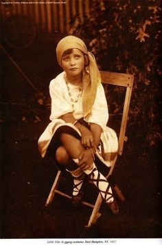 'Little Edie' Beale in gypsy costume, Grey Gardens, East Hampton, NY (1927)