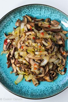 Vegetable Stir-Fry Recipe with Endive & Shiitake Mushrooms | cookincanuck.com  #vegetarian #vegan #recipe