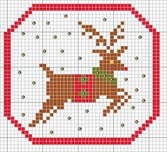 reindeer freebie from; http://sunshine-stitches.blogspot.com