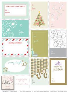 Lots of free Christmas Printables