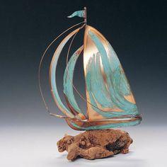 Driftwood Sailboat Sculpture