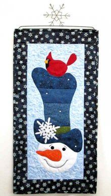 Winter Wonderland Snowman Skinnies Wall Hanging Kit