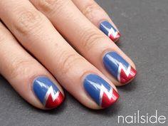 superhero lightning nails