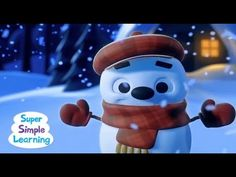 """Little Snowflake"" is the story of a snowman brought to life by the magic and beauty of snowfall. Use this song to discuss weather and review parts of the body (head, nose, hand). #teaching #teachingbodyparts #kids #toddlers #preK #education #preschool #SuperSimple #KidsMusic #KidsVideos #kidssongs #wintersong"