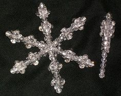 beaded snowflakes and icicles. I have some of these already made....somewhere