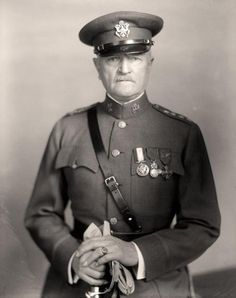 This is General 'Black Jack' Pershing. As the supreme general of the American Expeditionary Forces during the Great War, he commanded a force of two million men strong.    A West Point instructor, Pershing is considered to have been the mentor of some of America's greatest generals—Patton, Bradley, Eisenhower, and Marshall. During his service he held the highest position in the US Armed forces—General of the Armies—in the history of the United States, surpassing even George Washington.