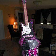 Rock Star Birthday Party Centerpiece.  Playpatterns.net
