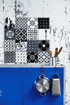 A bold blue tone can bring out the details in your decor.