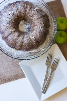 Oatmeal Apple Spice Cake with Brown Butter Glaze