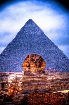 Sphinx, pyramids, Egypt