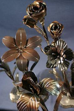 metal flowers. so neat