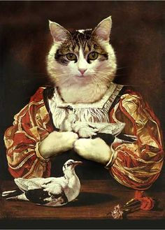 Valerie Leonard Classic Pet cats Portraits 1