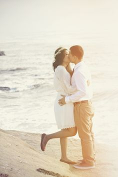 Beach elopement. I really wish the Mr. weren't so set on a wedding. I just want to elope! How peaceful does this look?