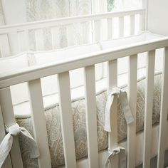 Crib bumpers are no more!! ways to reuse them are here at this blog (note: not my blog)