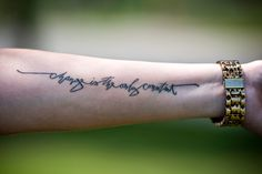 b dunlap: change is the only constant tattoo