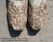 Handpainted Custom TOMS Shoes - Swirls and Spots. $85.00, via Etsy.