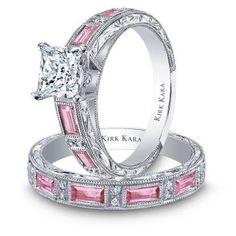 Diamonds and pink sapphires!!