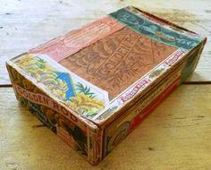 printable cardboard cigar box #gift #packaging #wrapping #cigar #box