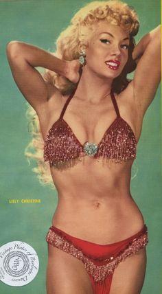cats, december, burlesqu dancer, bawdi burlesqu, lilli christin, showgirl, parad magazin, decemb 1956, 1956 issu