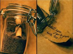 How cute.. Message in a Bottle Promposal! If he just put this on the beach for me to find it. <3