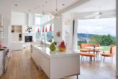 floors, contemporary kitchens, floor design, contemporary houses, open kitchens, dream kitchens, kitchen designs, house plans, white kitchens