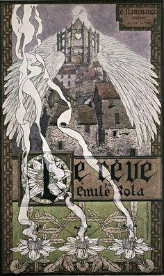 'Le rêve' by Émile Zola; illustrations by Carlos Schwabe and L. Métivet. Published 1893 by E. Flammarion.