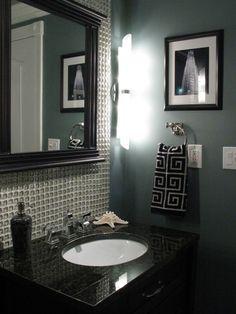 backsplash in the bathroom