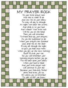 Inventive image for prayer rock poem printable