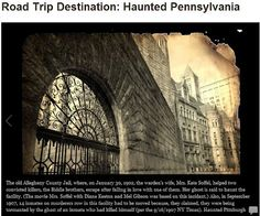 the old allegheny county jail is one of the stops on HAUNTED PITTSBURGH GHOST TOURS..... :-)
