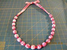another fabric necklace
