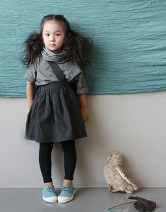 Cotton Basic Tee & Scarf Set by the Jany