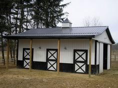 Small horse barn..just like ours, add Dutch doors