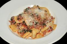 Rigatoni Bolognese - with Veal and Sausage Ragu at the Depot Hotel ...