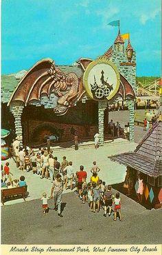Haunted Castle ride at Miracle Strip Amusement Park, Panama City Beach, Florida.