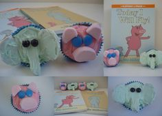 Inspired by the Elephant and Piggie Series by Mo Willems bookish food, elephants, birthday, piggi cupcak, book activ, librari idea, mo willems, piggi parti, gerald cupcakes