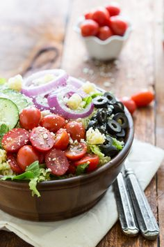 Greek Pasta Salad by chelseasmessyapron #Salad #Pasta #Greek #Easy