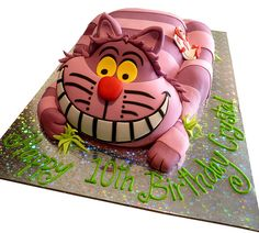 Cheshire Cat Cake, via Flickr.