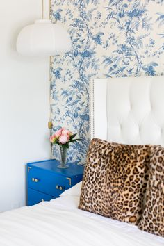 Katherine Vo's Orange County Home Tour #theeverygirl #bedroom #leopard