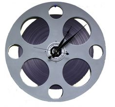 theater room - movie reel clock