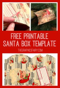 Santa Pillow Box Printable! - by Emily for The Graphics Fairy