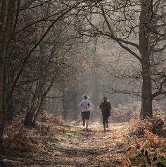 Runners running in the woods at Puttenham   #running #runsmart