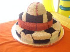 Layer sports cake