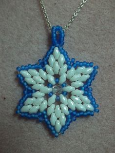 Beaded Snowflake TUTORIAL Pattern You tube - Winter Wonderland Pendant