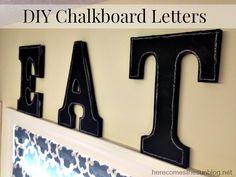 DIY Chalkboard Letters