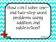 2nd Grade Common Core Chevron posters math and reading EQs Freebie