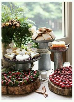 A tablescape for a rustic cheese party