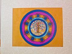 "Tree of Life Mandala - Original, Mixed Media, Vibrant Colors, 11""x14"", Artist, Catherine Fairbanks"