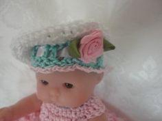 Free Itty Bitty Berenguer 5 inch Doll Crochet Hat Pattern
