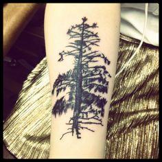 realistic tree tattoo black